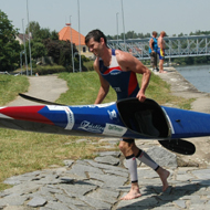 Strong paddle again: Michal Hasa