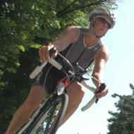 Ellen Mielke on the bike track