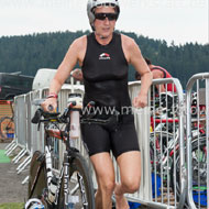 Katrin Burow goes on the bike