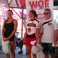 Fast women: Paulik, Tešovicová und Hirschfelder