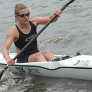 Lisa Hirschfelder: first after the paddle