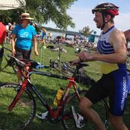 Oliver Büttel geht auf die Radstrecke