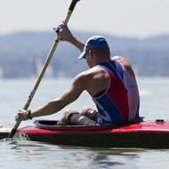 Rou�av� braves the heat at Lake Balaton