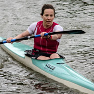 Secured the victory in paddling: Sharon Colley