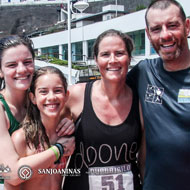 Albano Barcelos with his family, who was active in the relay